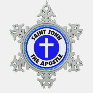 聖ヨハネ使徒 スノーフレークピューターオーナメント