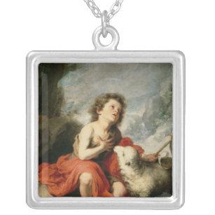 聖ヨハネ子供、c.1665としてバプテスト シルバープレートネックレス