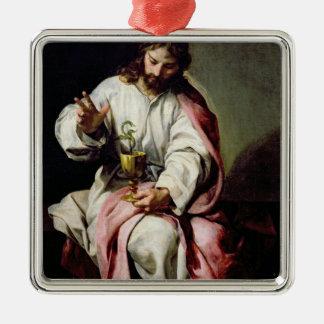 聖ヨハネ福音伝道者および毒されたコップ メタルオーナメント