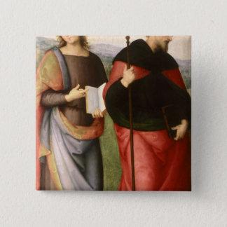 聖ヨハネ福音伝道者そしてセントオーガスティンの 5.1CM 正方形バッジ