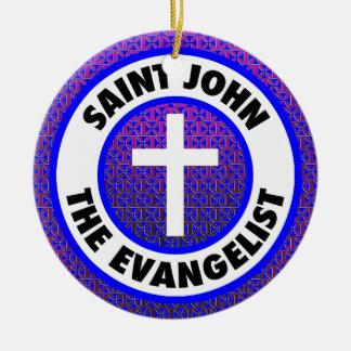 聖ヨハネ福音伝道者 セラミックオーナメント