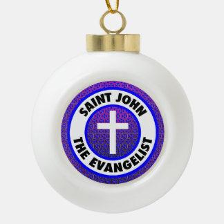 聖ヨハネ福音伝道者 セラミックボールオーナメント