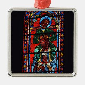 聖ヨハネEzの肩に乗っている福音伝道者 メタルオーナメント
