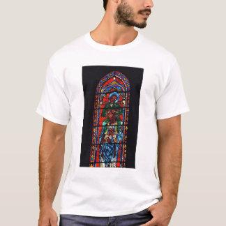 聖ヨハネEzの肩に乗っている福音伝道者 Tシャツ