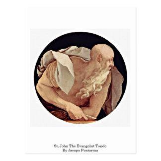 聖ヨハネJacopo Pontormo著福音伝道者Tondo ポストカード
