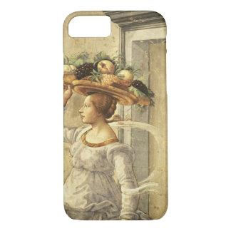 聖ヨハネtの誕生からのフルーツを、運んでいる女性 iPhone 8/7ケース