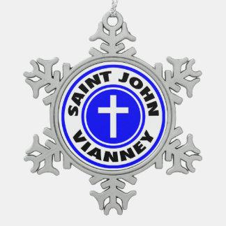 聖ヨハネVianney スノーフレークピューターオーナメント