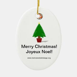 聖三位一体のクリスマスツリーのオーナメント セラミックオーナメント