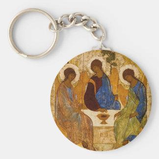 聖三位一体アイコンRublevのビザンチンのカトリック教のギフト キーホルダー