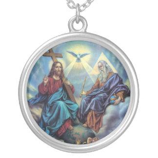 聖三位一体 シルバープレートネックレス