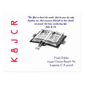 聖書が付いているQSLカード ポストカード