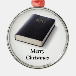 聖書とのクリスマスのオーナメントのメリークリスマス メタルオーナメント