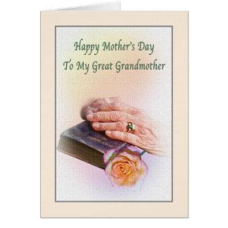 聖書との曾祖母の母の日 カード