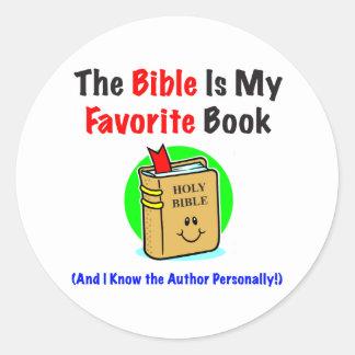 聖書のお気に入りのな円形のステッカー ラウンドシール
