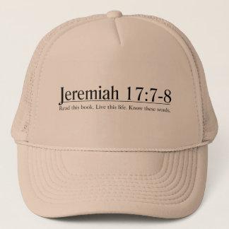 聖書のジェレミアの17:7 - 8 --を読んで下さい キャップ