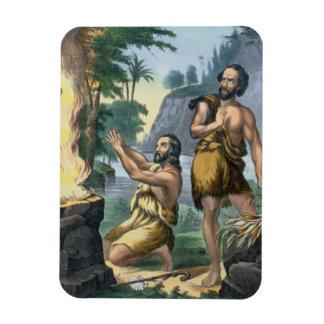 聖書のプリントからのカインそしてアベルの犠牲、 マグネット