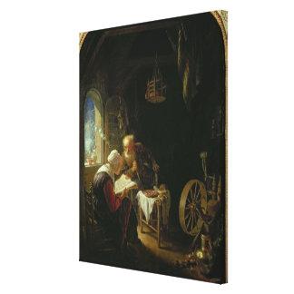 聖書のレッスン、かアンおよびトビアス(パネルの油 キャンバスプリント