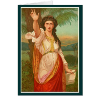 聖書の女性- Deborah グリーティングカード