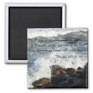 聖書の引用文の賛美歌の139:9 - 10磁石 マグネット