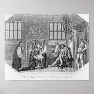 聖書の最初の英国翻訳 ポスター
