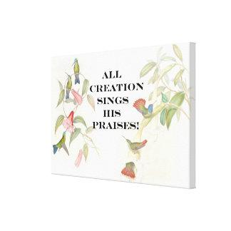 聖書の聖なる書物、経典のクリスチャンのインスピレーション キャンバスプリント