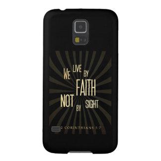 聖書の聖書の詩- 2 Corinthiansの5:7 Galaxy S5 ケース
