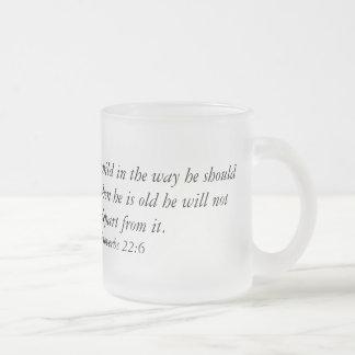 聖書の詩のコーヒー・マグ フロストグラスマグカップ