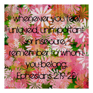 聖書の詩の勇気付けられるのEphesiansポスター ポスター