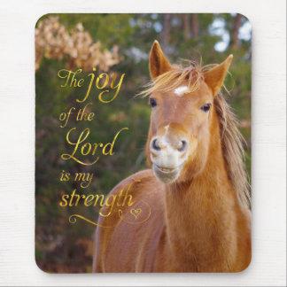聖書の詩の微笑のクリの馬のマウスパッド マウスパッド