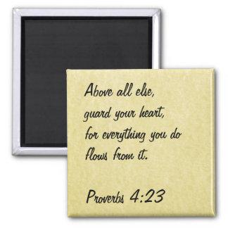 聖書の詩の磁石の諺の4:23 マグネット