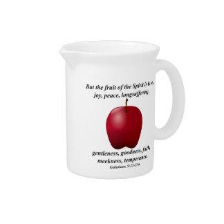聖書の詩の精神Appleのフルーツ ピッチャー