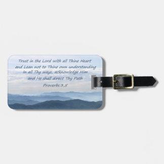 聖書の詩の荷物のラベル ラゲッジタグ