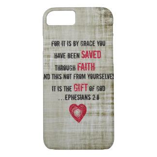聖書の詩のEphesiansの2:8 iPhone 8/7ケース