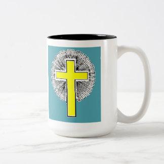 聖書の詩のJoshの1:9 2はコーヒー・マグにある調子を与えます ツートーンマグカップ