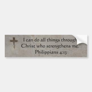 聖書の詩をインスパイアPhilippiansの4:13 バンパーステッカー