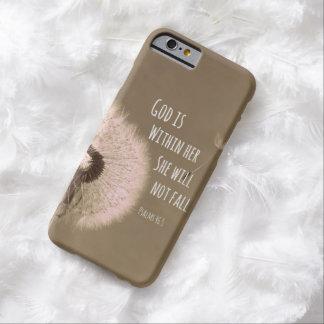 聖書の詩: 神は彼女の内に、彼女ころびませんあります BARELY THERE iPhone 6 ケース