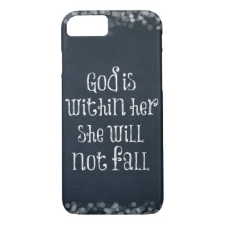 聖書の詩: 神は彼女の内に、彼女ころびませんあります iPhone 8/7ケース