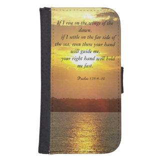 聖書の賛美歌の139:9 - 10ウォレットケース ウォレットケース