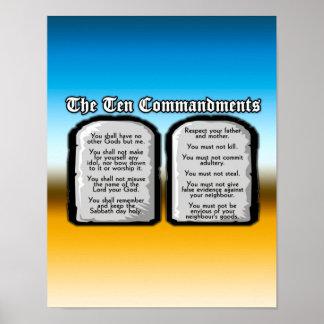 聖書の10の命令、神の法律 ポスター
