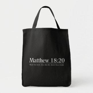 聖書のMatthewの18:20を読んで下さい トートバッグ