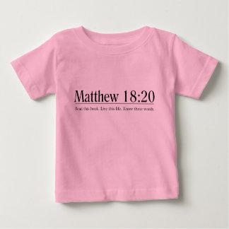 聖書のMatthewの18:20を読んで下さい ベビーTシャツ