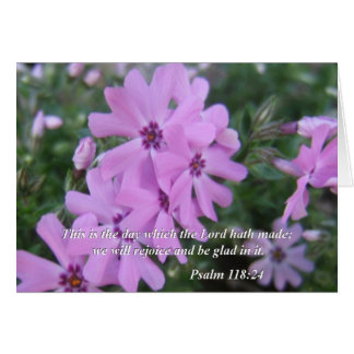 聖書はカード賛美歌の118:24を引用します カード