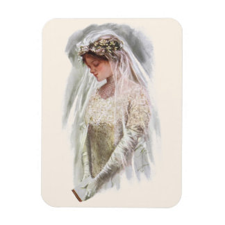聖書ハリスンフィッシャーを持つヴィンテージのビクトリアンな花嫁 マグネット