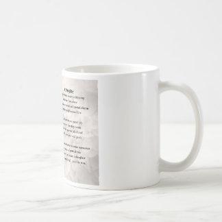 聖書及びバラ-娘の詩のマグ コーヒーマグカップ