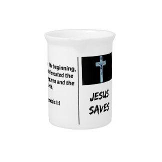 """聖書""""イエス・キリスト""""はシリーズを救います: 起源の1:1 ピッチャー"""