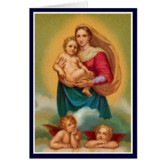 聖書- Sistineマドンナの女性 カード