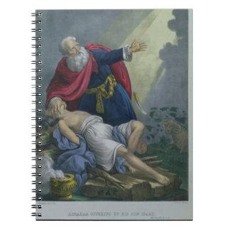 聖書prからの彼の息子アイザックの上で、提供しているアブラハム ノートブック