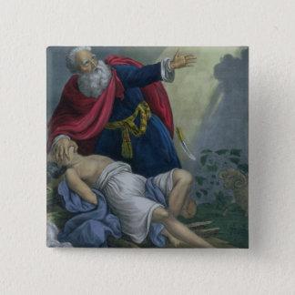 聖書prからの彼の息子アイザックの上で、提供しているアブラハム 缶バッジ