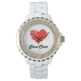 聖歌隊に白い腕時計を示して下さい 腕時計