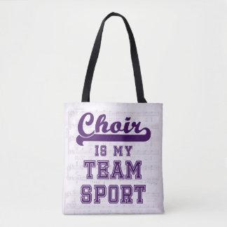 聖歌隊は私のチーム・スポーツです トートバッグ